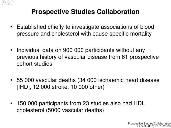 Prospective studies collaboration