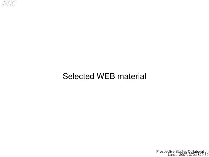 Selected WEB material