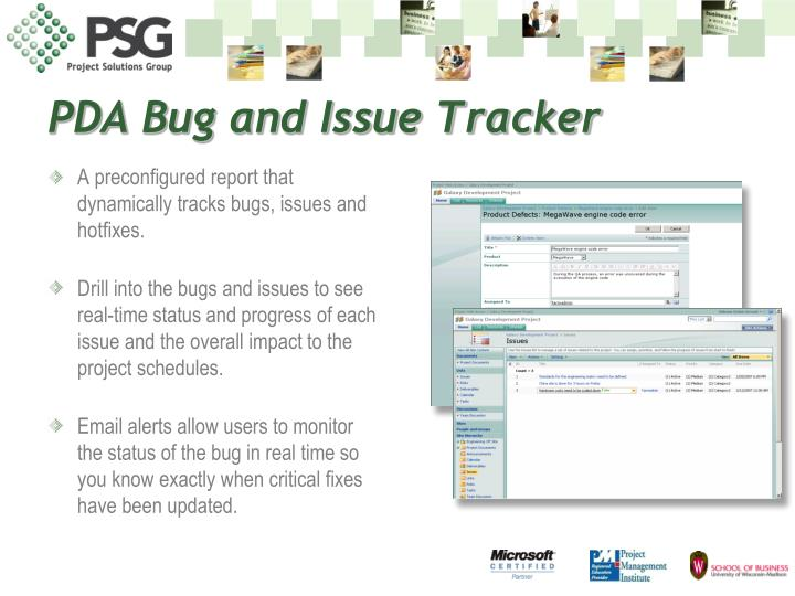 PDA Bug and Issue Tracker