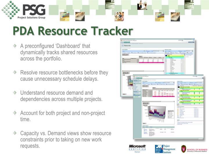 PDA Resource Tracker
