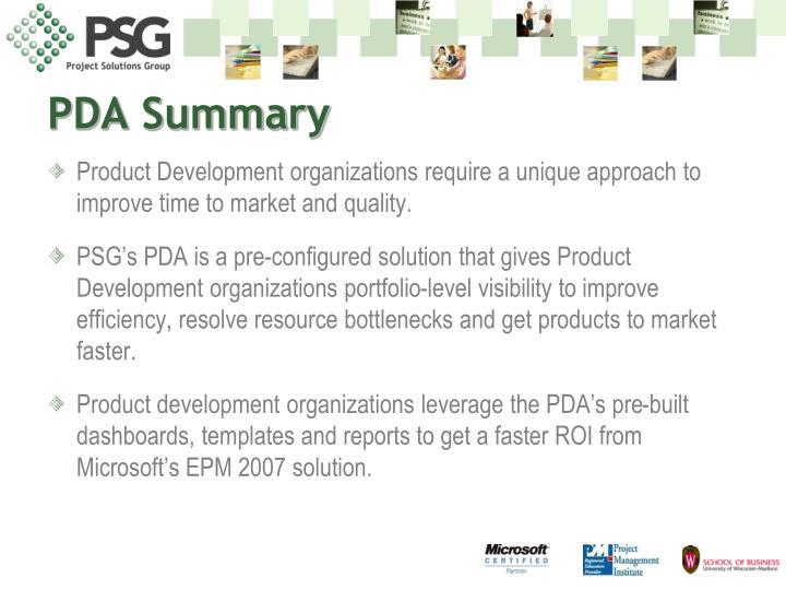PDA Summary
