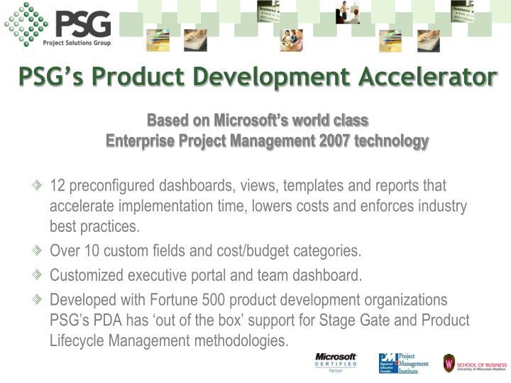 PSG's Product Development Accelerator