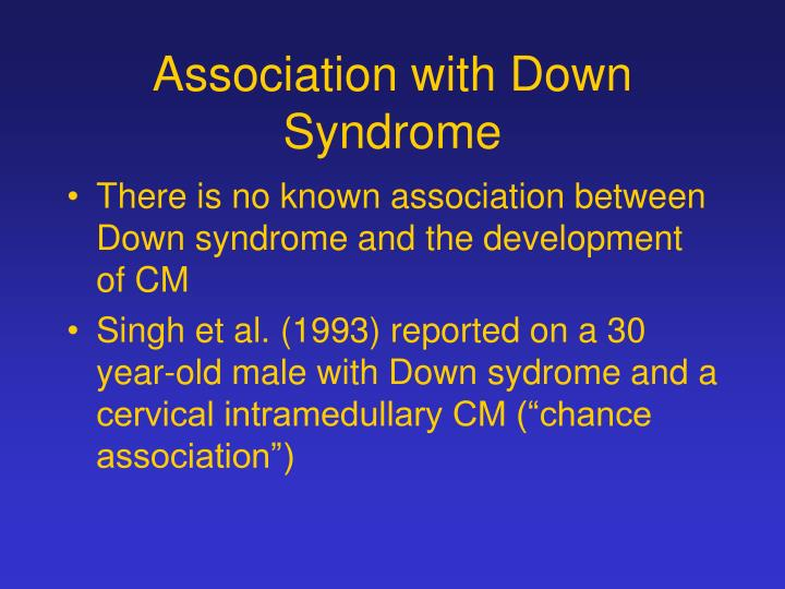 Association with Down Syndrome