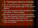 b theologians become activists