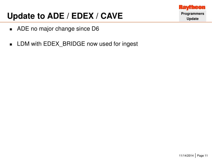 Update to ADE / EDEX / CAVE