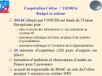 coop ration cofrac uemoa budget et actions