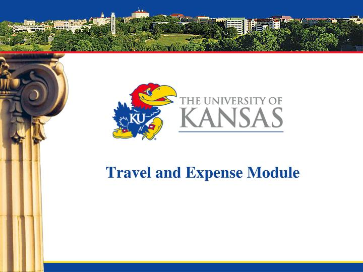 travel and expense module n.
