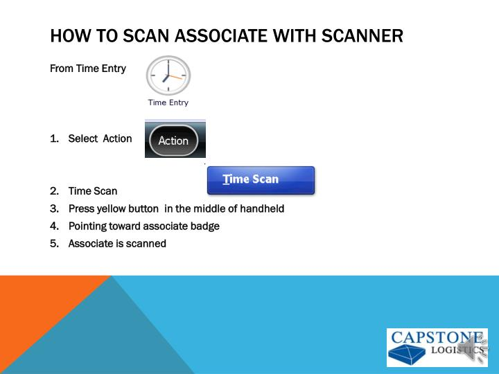 How to scan associate with scanner