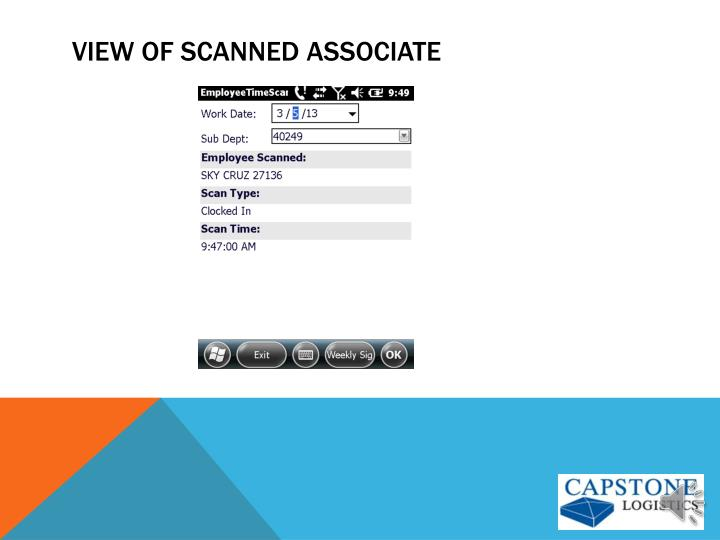 View of Scanned associate