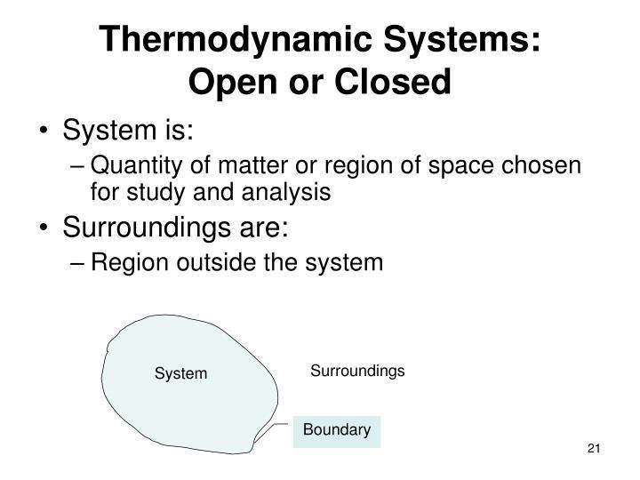 Thermodynamic Systems: