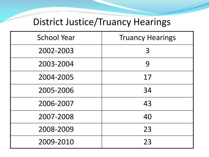 District Justice/Truancy Hearings