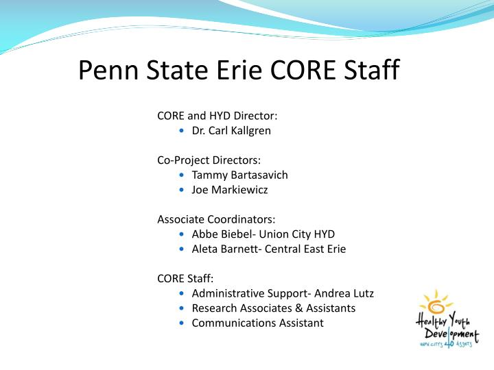 Penn state erie core staff