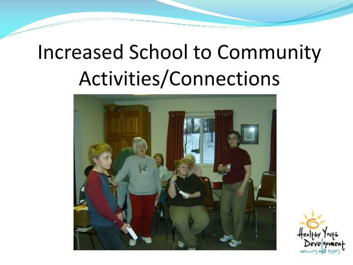 Increased School to Community Activities/Connections