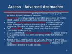 access advanced approaches