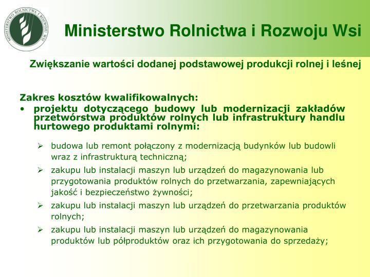 Zwiększanie wartości dodanej podstawowej produkcji rolnej i leśnej