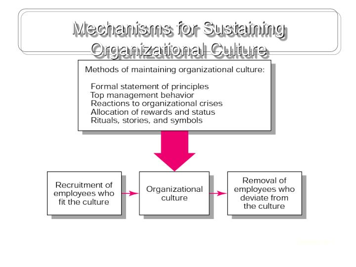 Mechanisms for Sustaining Organizational Culture