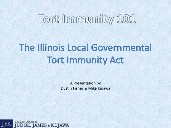 the illinois local governmental tort immunity act n.