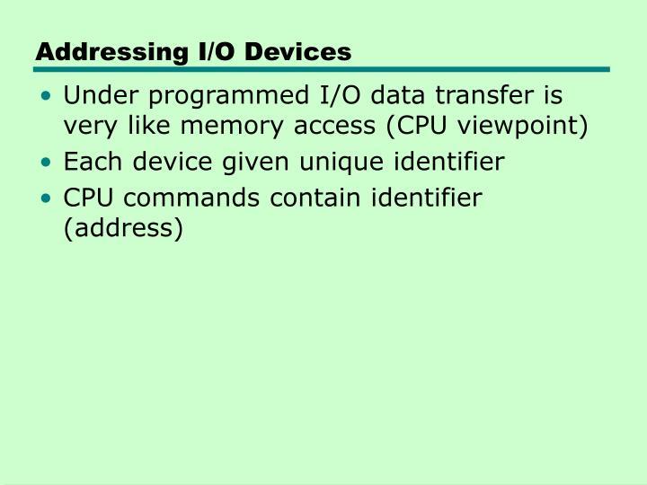 Addressing I/O Devices