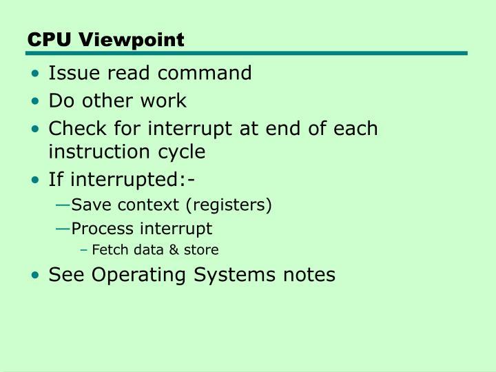 CPU Viewpoint