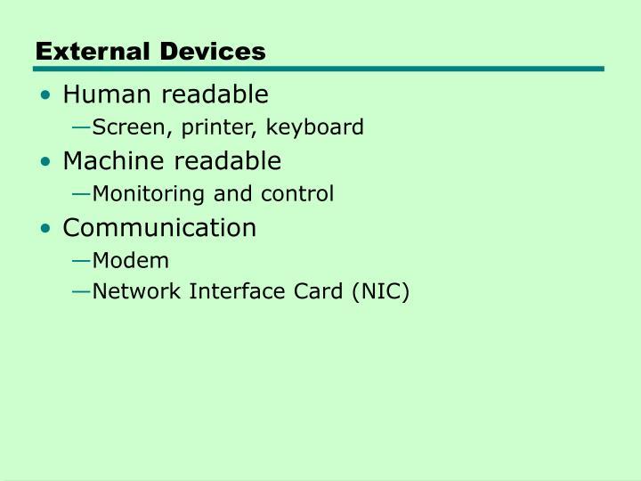External Devices