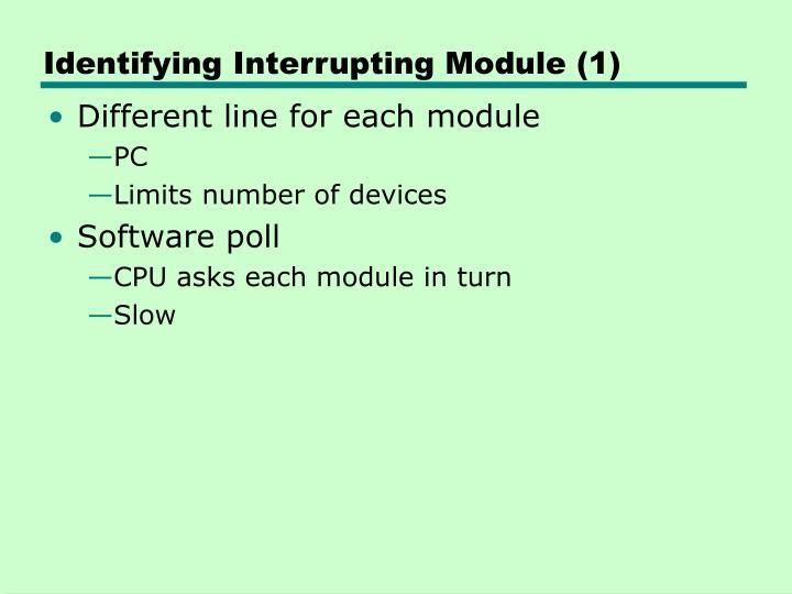 Identifying Interrupting Module (1)