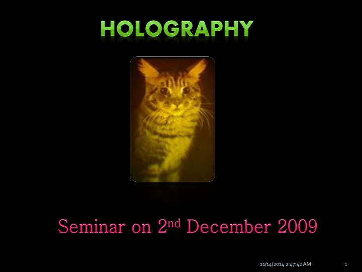 holography n.