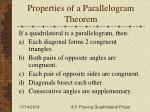 properties of a parallelogram theorem
