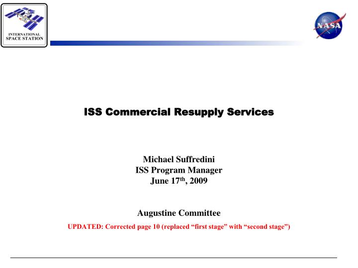 iss commercial resupply services n.