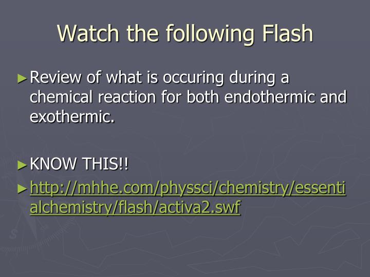 Watch the following Flash