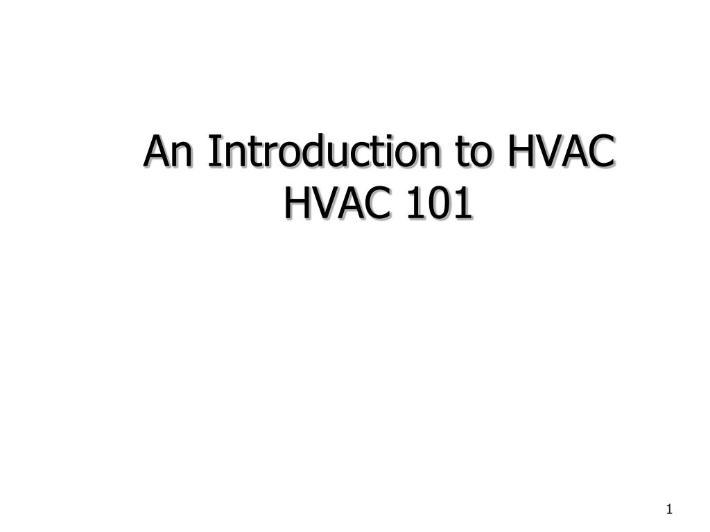 Ppt An Introduction To Hvac 101 Powerpoint Presentation Id Drawing Checklist N