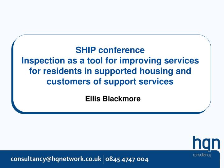 SHIP conference