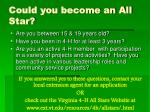 could you become an all star