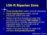 150 ft riparian zone