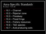 area specific standards n j a c 7 13 10