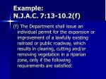 example n j a c 7 13 10 2 f