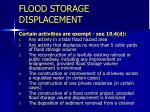 flood storage displacement