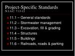 project specific standards n j a c 7 13 11