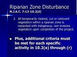 riparian zone disturbance n j a c 7 13 10 2 d2