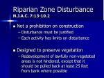 riparian zone disturbance n j a c 7 13 10 21