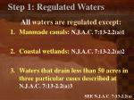 step 1 regulated waters