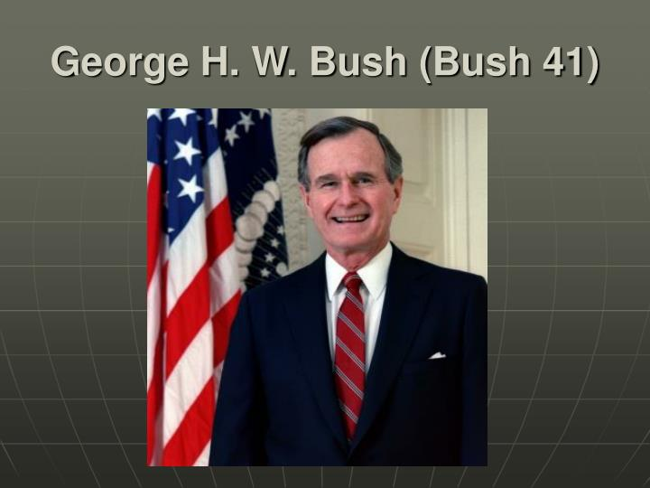 george h w bush and nations