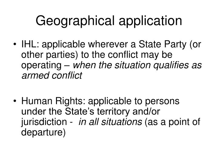 Geographical application