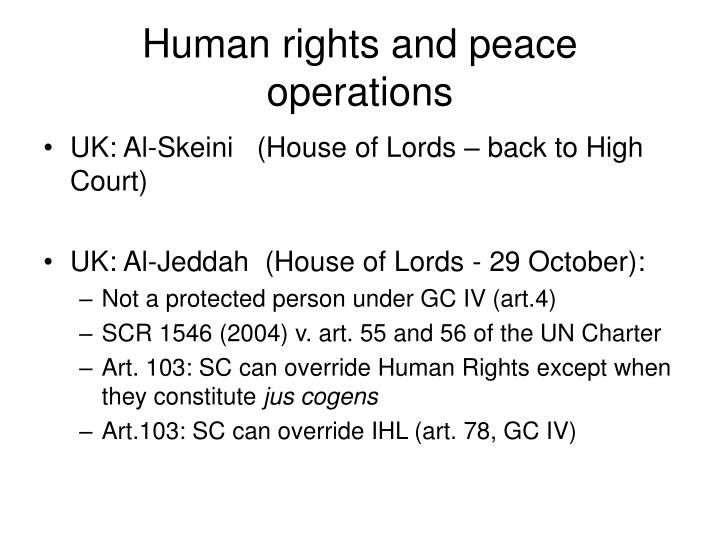 Human rights and peace operations