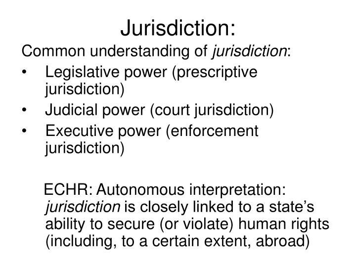 Jurisdiction: