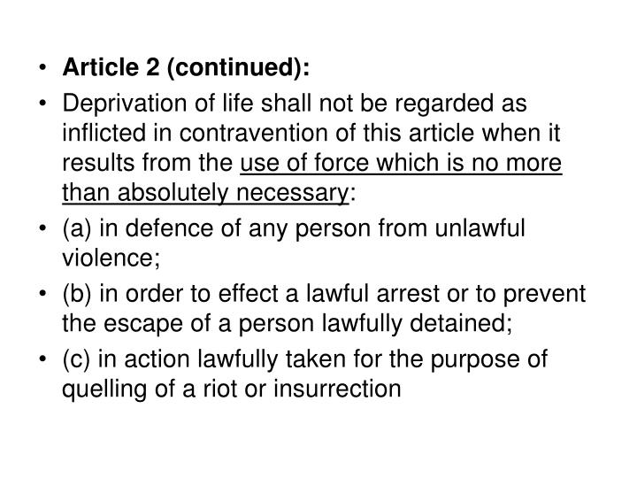 Article 2 (continued):