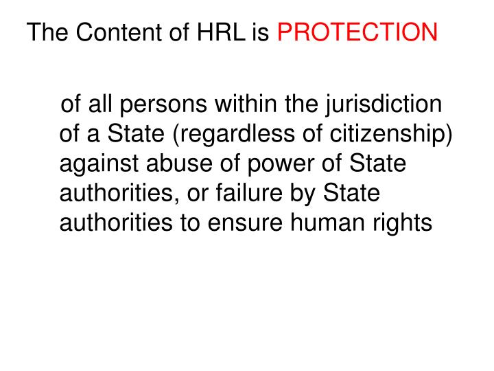 The Content of HRL is