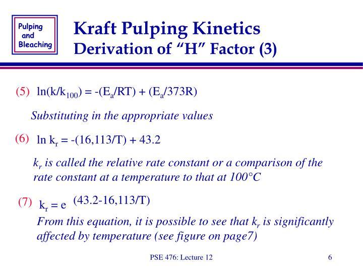 Kraft Pulping Kinetics