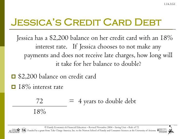 Jessica's Credit Card Debt