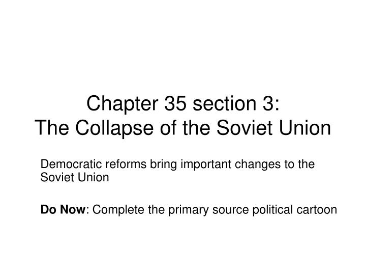 an introduction to the collapse of the soviet bloc The name soviet bloc also denotes groups of states associated with the soviet union insurgent movements in eastern europe saw the communist bloc collapse country after country introduction this essay aims to understand the impact of communism on central and eastern.