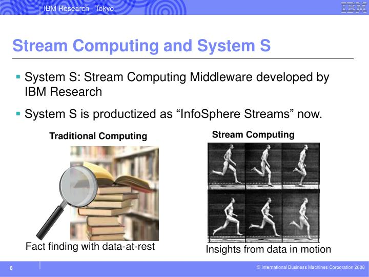 Stream Computing and System S